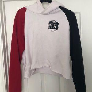 Retro style 23 Nike Jordan cropped hooded sweater